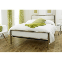 Brighton bed centre, summer sale, celestial limelight bedstead