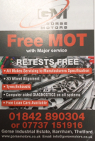 FREE MOT with a major service