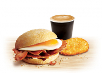 Full English Bap & Any Hot Drink £4.99