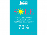 70% Off Sale at Jacks For Women