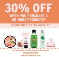 30% off when you purchase 4 or more products