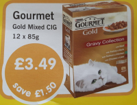Spoil your cat with Gourmet Gold cat food on offer in Creature Comforts