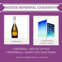 Refer a friend to Xodos and win Super Prizes