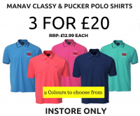 Polo Shirts 3 for £20