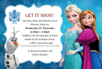 Book 2 children and 1 adult goes FREE to Frozen Princess Party