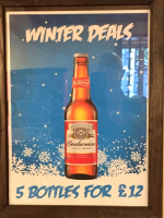Budweiser 5 bottles for £12.