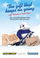 FREE GIFT PACK WHEN YOU BUY 4 OR MORE MICHELIN TYRES