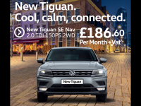 New Tiguan SE Nav 2.0 TDI150PS 2WD ONLY £186.60!! Per Mouth + Vat