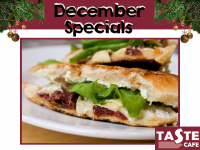 Get your Vegetarian Christmas Sandwich, Baguette or Panini!!