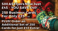 Business cards festive offer from Minuteman Press!