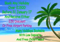 £50 discount or  Free Airport Parking