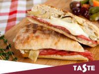Fancy something a little spicy? Why not try Taste's Chorizo and Mozzarella Panini Today! Only £4.10!