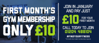 First Months Gym Membership only £10!