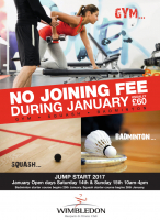 NO JOINING FEE at Wimbledon Racquets & Fitness Club