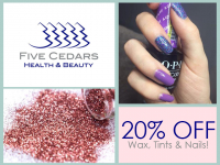 Need a wax..? Tint..? OMG look at those nails! How about 20% off