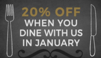 20% off when you dine at The Spread Eagle in January!