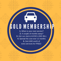 Want your next MOT for FREE? Then you want the Gold Car Service Membership with MotorServ-UK Solihull
