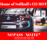 £15.00 MOT NO PASS NO FEE
