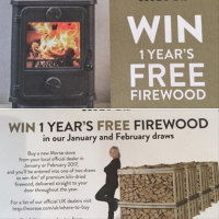 CHANCE TO WIN A YEAR'S SUPPLY OF FIREWOOD WHEN YOU BUY A MORSØ STOVE FROM CHIM CHIMINEE