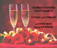 Celebrate Valentines Day at Hogarths Hotel