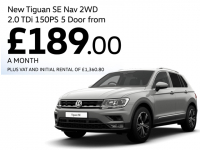 Can't decide on an SUV for business? Look at the deal on the new VW Tiguan!
