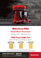 KitchenAid Stand Mixer Promotion from The Kitchen Shop in Lichfield
