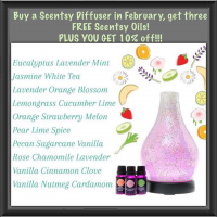 Buy a Scentsy diffuser and get 3 free oils