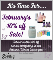 It's time for .... February's 10% off sale!!!