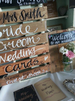 Personalised Wedding Package from Rustic Signs - £57 on offer for £40!