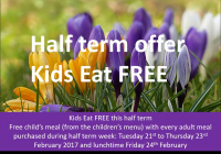 Kids Eat Free at The Barley Mow this half term