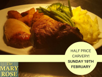 HALF PRICE carvery at The Mary Rose