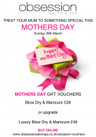 Mothers Day Vouchers from Obsession