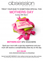 Spa Day Vouchers from Obsession Salon & Spa