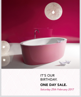 ripples bathrooms, one, day, birthday, sale - Brighton Showroom