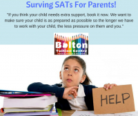 Discounted SATs Revision Classes at Bolton Tuition Centre
