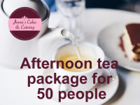 Afternoon tea package for 50 people..