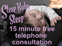 Problems with your baby sleeping? Free 15 min Telephone Consultation...