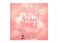 Prom Packages available from Beauty Boutique