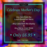 Mother's Day Special offer from Room Four Dessert