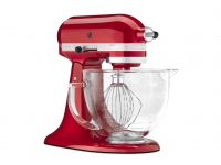 KitchenAid Candy Apple Artisan Mixer with Glass Bowl