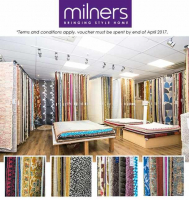 During April, for every £1000 spent in Milners, receive a £100 voucher to put towards any rug in our rug emporium!