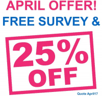 25% off soundproofing and a FREE survey for April