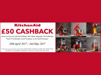 £50 Cashback on KitchenAid Products at The Kitchen Shop