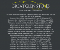 the bestof the highlands, great glen stoves, sale