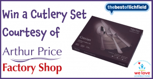 Win a cutlery set courtesy of the Arthur Price Factory Shop