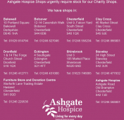 Ashgate Hospice Charity Shops