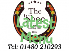 Latest Menu at The Horseshoe Inn just outside St Neots