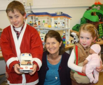 Seven-year-old santa delivers presents for disabled children at Tadworth charity @childrens_trust
