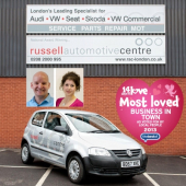 Congratulations to Russell Automotive Centre - Winner of Barnet's 14 Days of Love Campaign 2013