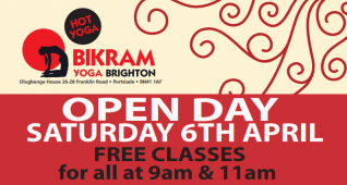 Bikram Yoga Brighton - Try Hot Yoga at our April Open Day